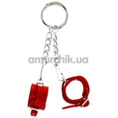 Брелок Feral Feelings наручники с пряжкой, красный - Фото №1