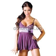 Комплект Fiore фиолетовый: комбинация + трусики-стринги - Фото №1
