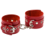 Наручники sLash Leather Double Fix Hand Cuffs, красные - Фото №1