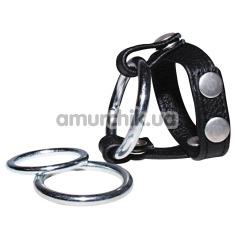 Насадка на пенис Sextreme Leather Strap, черная - Фото №1