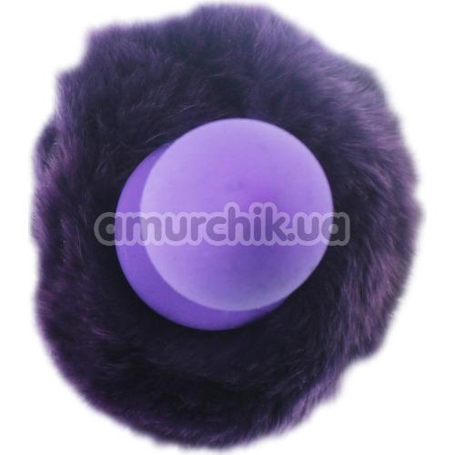 Анальная пробка с фиолетовым хвостиком Honey Bunny Tail, фиолетовая