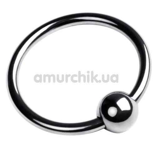 Кольцо на головку члена Toyfa Metal Ring, серебряное - Фото №1