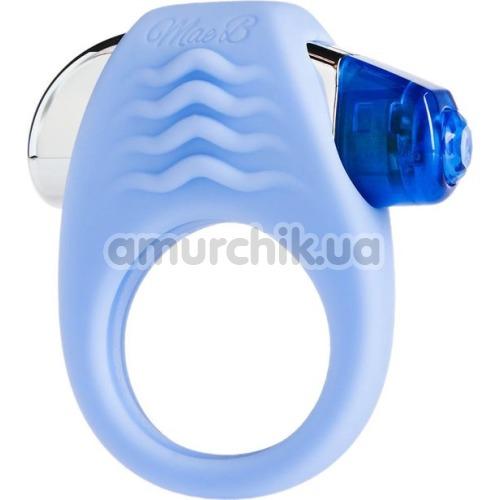 Виброкольцо Mae B Lovely Vibes Stylish Soft Touch C-Ring, голубое - Фото №1