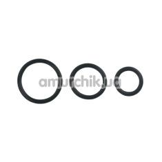 Набор эрекционных колец Cock&Ball Rings Rubber Set, черный