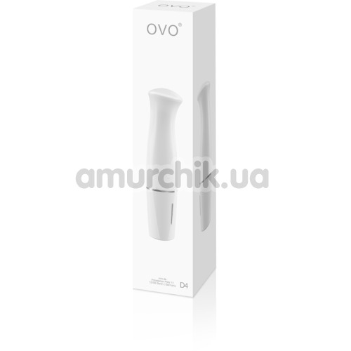 Вибратор для точки G OVO D4, белый