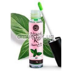 Блеск для губ с эффектом вибрации Secret Play Vibrant Kiss Pleasure For Two Lip Gloss Mint - мята, 6 мл - Фото №1