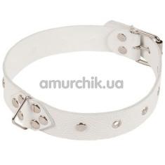 Ошейник Leather Restraints Collar, белый - Фото №1