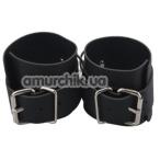 Наручники Handcuffs With Chain, чёрные - Фото №1