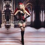 Костюм демона JSY Dark Angel красно-чёрный: боди + чулки + перчатки + крылья + головной убор - Фото №1