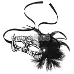 Маска Steamy Shades Mardi Gras Mask With Feathers, чёрная