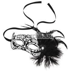 Маска Steamy Shades Mardi Gras Mask With Feathers, чёрная - Фото №1