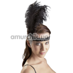 Украшение на голову с лентой и перьями Cottelli Collection Accessoires, черное