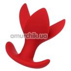 Анальная пробка ToDo Expander Plug Flower 9 см, красная - Фото №1