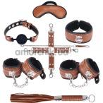 Бондажный набор sLash Snakeskin Bondage Set, коричневый - Фото №1