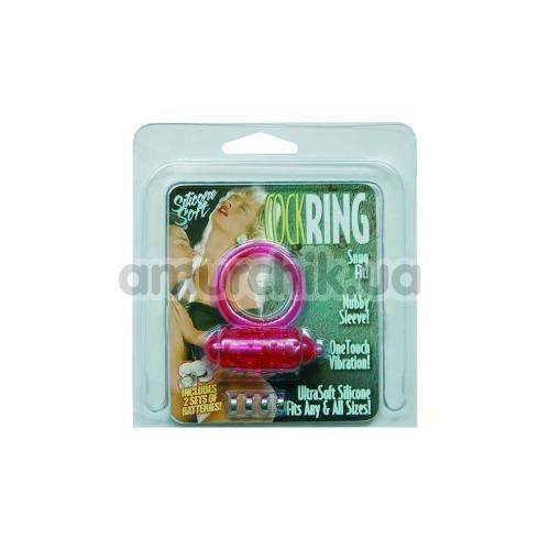 Виброкольцо Silicone Soft Cock Ring Vibro, розовое