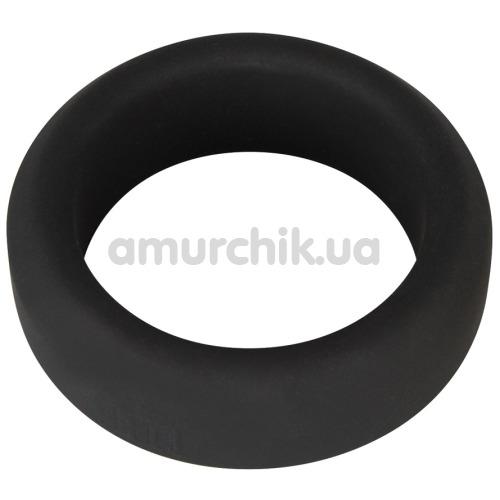 Эрекционное кольцо Black Velvets Cock Ring 3.2 см, чёрное - Фото №1