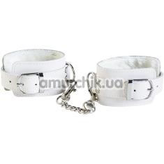 Наручники Theatre Leather Handcuffs, белые - Фото №1