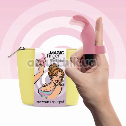 Вибронапалечник FeelzToys Magic Finger Bunny Vibrator, розовый