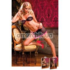 Комплект Black-Pink Mini Skirt Set: бюстгальтер + юбочка - Фото №1