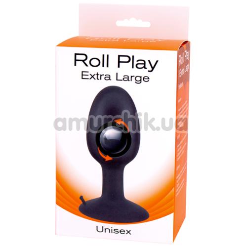 Анальная пробка Roll Play Extra Large, черная