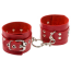 Наручники sLash Leather Rastraints Hand Cuffs, красные - Фото №1