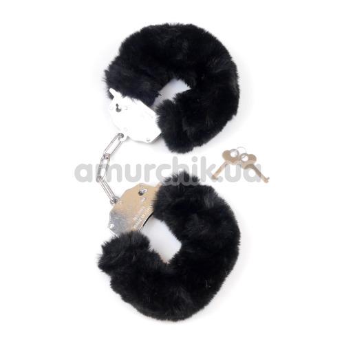 Наручники Boss Series Fetish Furry Cuffs, черные - Фото №1