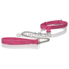 Ошейник с поводком Tickle Me Pink Collar with Leash, розовый - Фото №1