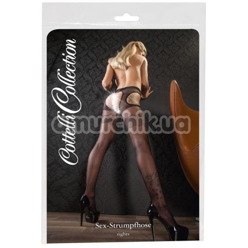 Колготки Cottelli Collection Sex Solo, чёрные