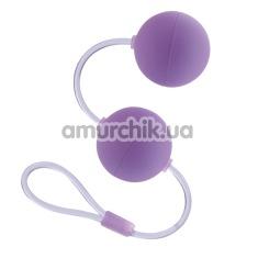 Вагинальные шарики First Time Duo Lover, фиолетовые - Фото №1