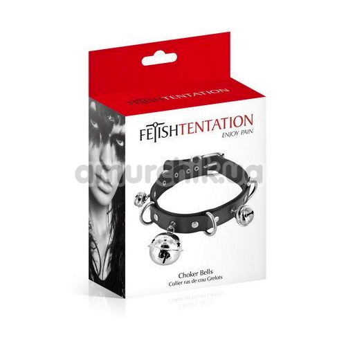 Ошейник Fetish Tentation Choker Bells, черный