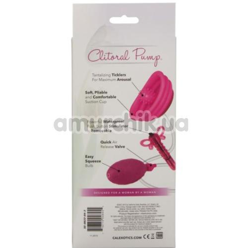 Вакуумная помпа с вибрацией для клитора Venus Butterfly Clitoral Pump, розовая