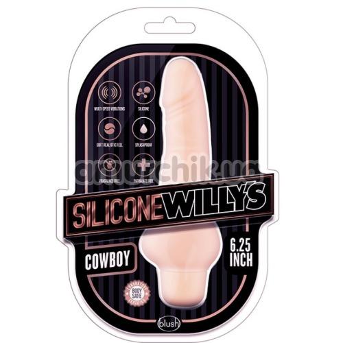 Вибратор Silicone Willy's Cowboy 6.25, телесный