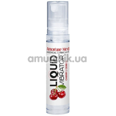 Лубрикант с эффектом вибрации Amoreane Med Liquid Vibrator Cherry - вишня, 10 мл - Фото №1
