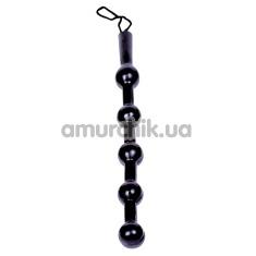 Анальная цепочка Falcon Balls Medium, черная - Фото №1