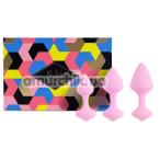 Набор анальных пробок FeelzToys Bibi, розовый - Фото №1
