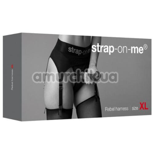 Трусики для страпона с подвязками Strap-On-Me Rebel Harness, черные
