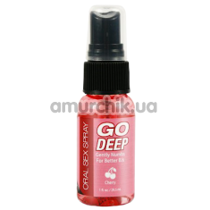 Расслабляющий спрей для минета Go Deep Oral Sex Spray Cherry - вишня, 29.5 мл - Фото №1