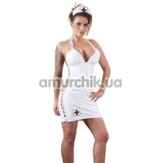 Костюм медсестры Black Level 2850656 белый: платье + шапочка - Фото №1