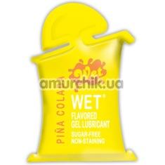 Лубрикант Wet Flavored Pina Colada 10 ml - Фото №1