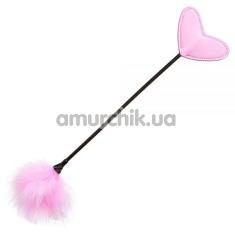 Стек с пушком Loveshop Carrot and Stick, розовый - Фото №1
