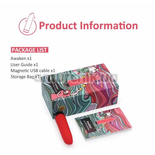 Клиторальный вибратор Magic Motion Awaken, красный