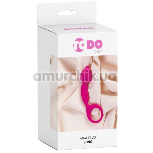 Анальный стимулятор ToDo Anal Plug Bong, розовый