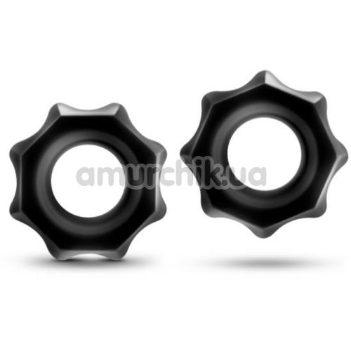 Набор эрекционных колец Stay Hard Nutz, черный - Фото №1