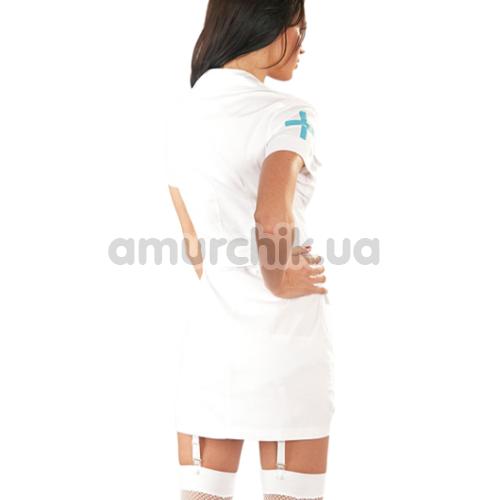 Костюм медсестры Cottelli Collection Costumes 2470349 белый: халатик + трусики-стринги