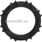 Эрекционное кольцо Atlas Silicone Ring, черное - Фото №1