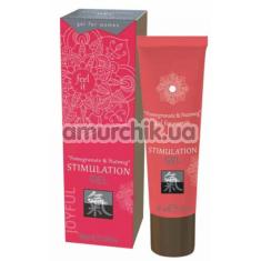 Гель для стимуляции клитора Shiatsu Stimulation Gel Pomegranate & Nutmeg, 30 мл - Фото №1