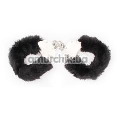 Наручники Hi-Basic Fur-lined Handcuffs, черные - Фото №1