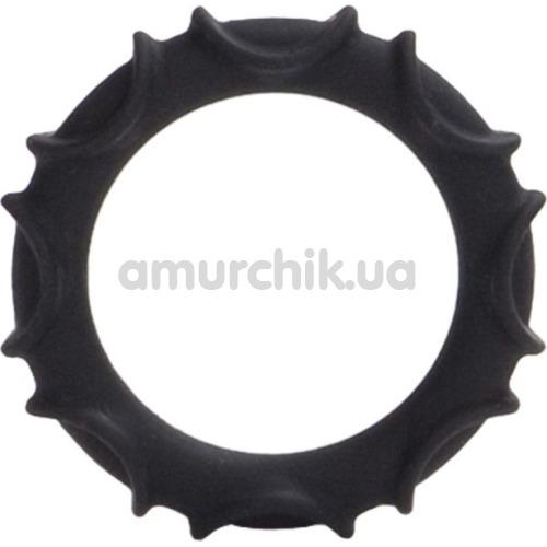 Эрекционное кольцо Atlas Silicone Ring, черное