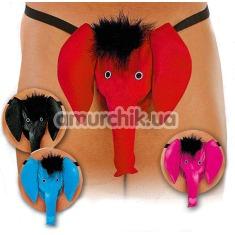 Трусы-стринги мужские Thong розовые слоник (модель 4416) - Фото №1