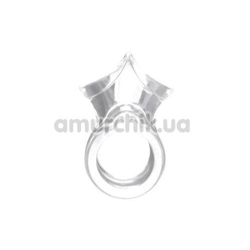 Эрекционное кольцо GK Power Crown Ring, прозрачное - Фото №1
